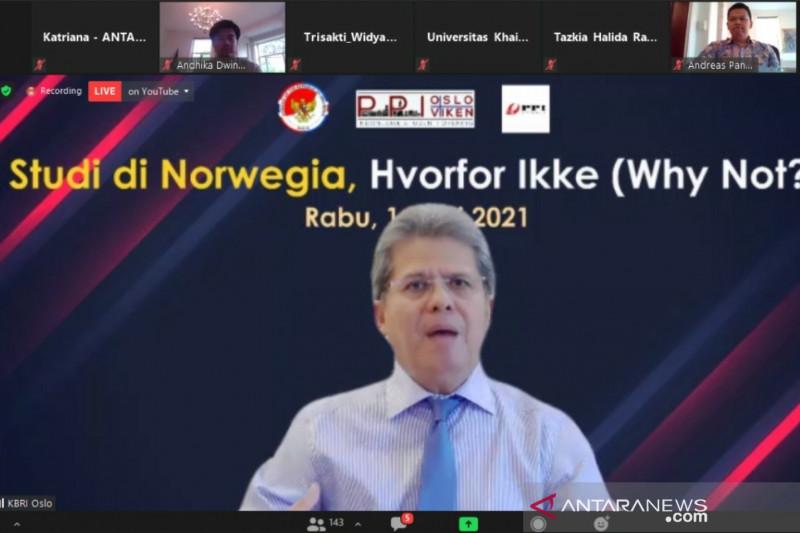 Dubes RI ajak pemuda masuki pasar global lewat studi di Norwegia