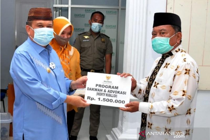 Baznas Gorontalo salurkan insentif untuk mubaligh