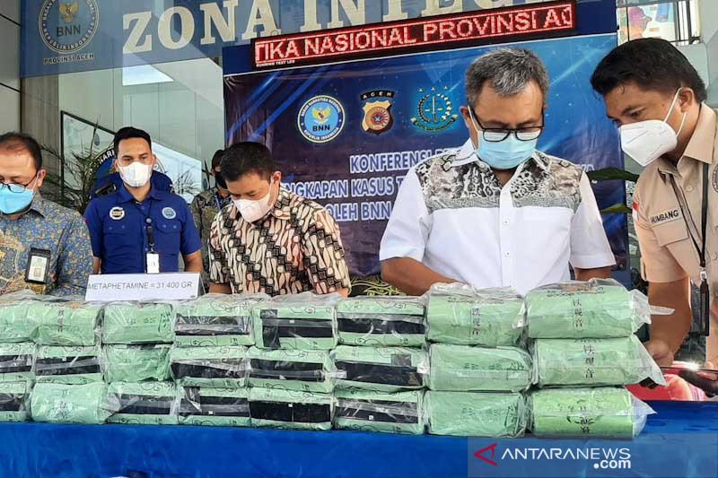 BNNP Aceh gagalkan peredaran 31,4 kilogram sabu
