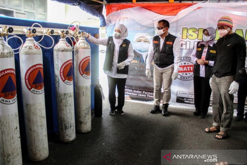 Pemprov Jatim siapkan pusat layanan oksigen gratis