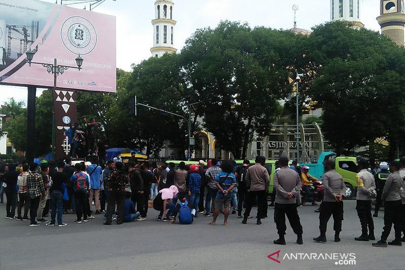 Mahasiswa diamankan saat aksi demo di Manado telah dipulangkan