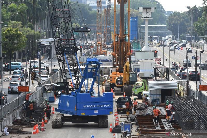 MRT lakukan rekayasa lalu lintas karena pekerjaan terowongan stasiun