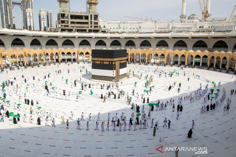 Suasana Masjidil Haram jelang puncak ibadah haji