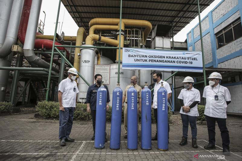 Gandeng BUMN, Erick Thohir upayakan ketersediaan oksigen lancar
