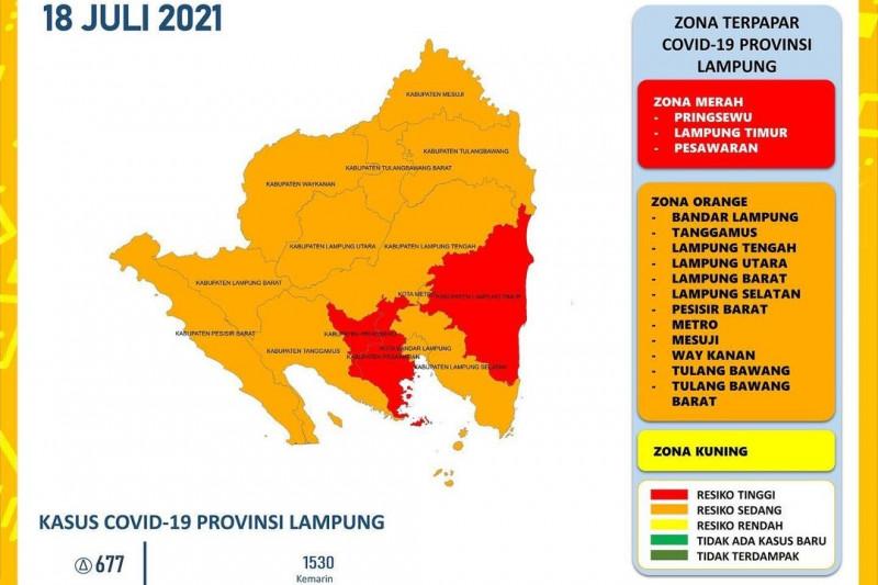 Lampung catatkan rekor kasus harian COVID-19 sebanyak 677 pasien