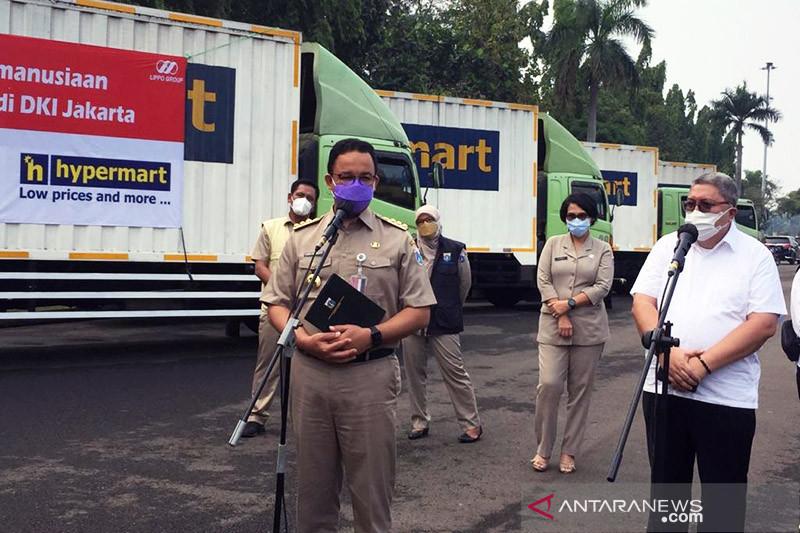Pemprov DKI-peritel salurkan 7.500 paket sembako untuk warga isoman