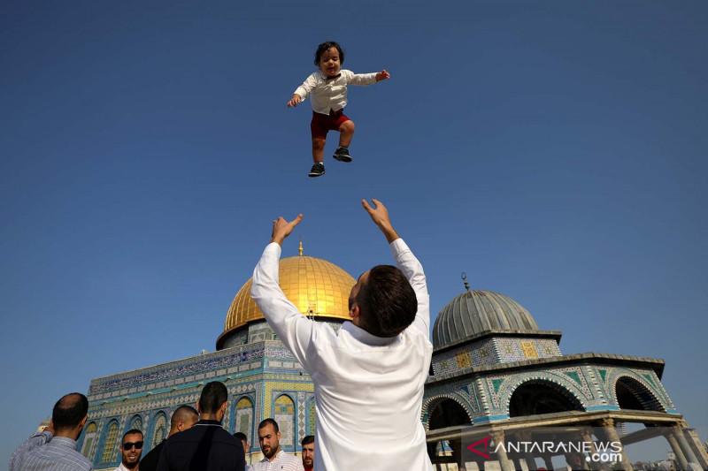 Warga Palestina rayakan Idul Adha di Kota Tua Yerusalem