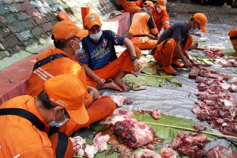 Tempat penyembelihan hewan kurban di Ciracas berkurang 20 persen