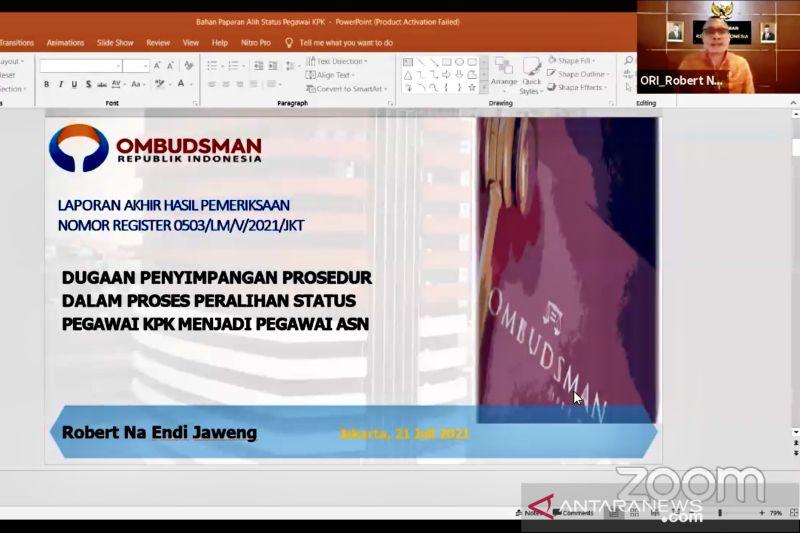Ombudsman temukan maladministrasi pada peralihan pegawai KPK jadi ASN