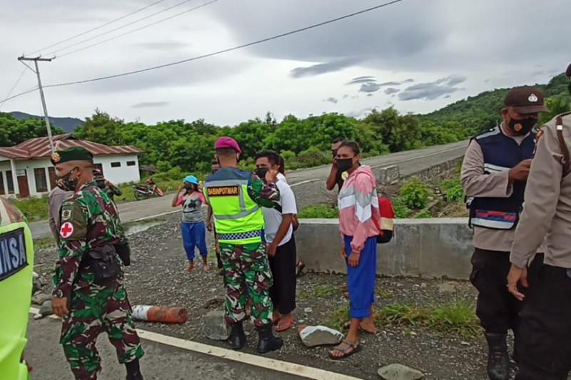 Satgas Pamtas RI-Timor Leste perketat pengawasan PPKM di perbatasan