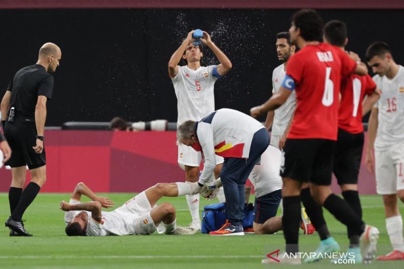 Spanyol kehilangan dua pemainnya saat bermain imbang lawan Mesir