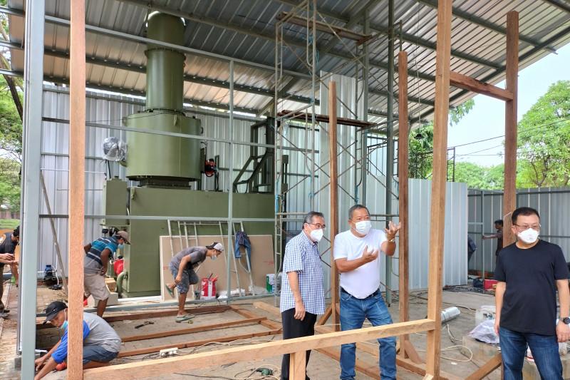 Penampakan mesin krematorium di TPU Tegal Alur