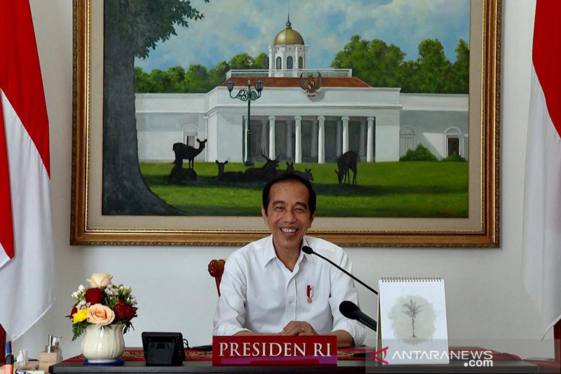Jokowi: Anak-anak tetap semangat belajar meski tidak di sekolah
