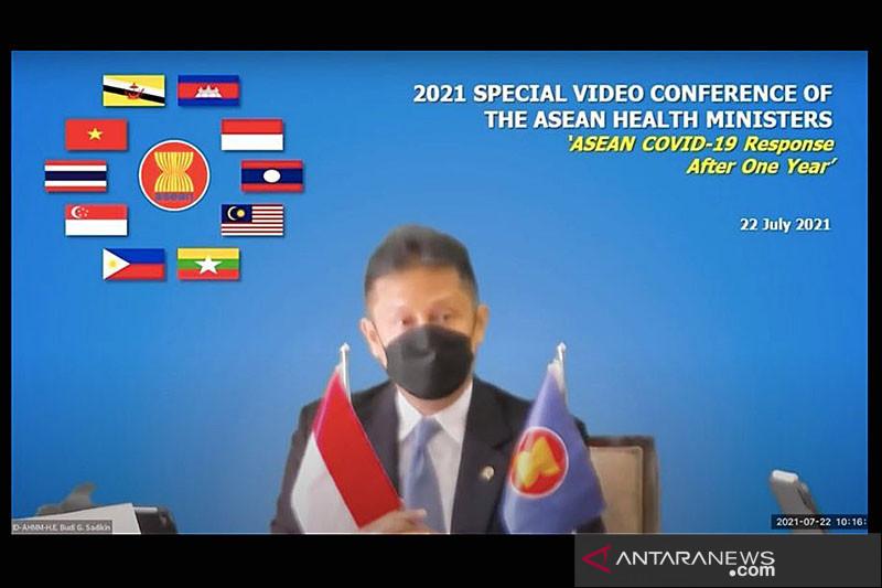 Menkes se-ASEAN perkuat kerja sama penanganan pandemi COVID-19