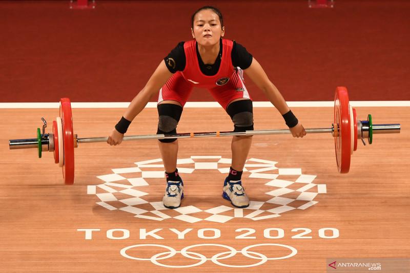 Indonesia sabet medali pertama Olimpiade Tokyo 2020 lewat lifter putri Windy Cantika Aisah