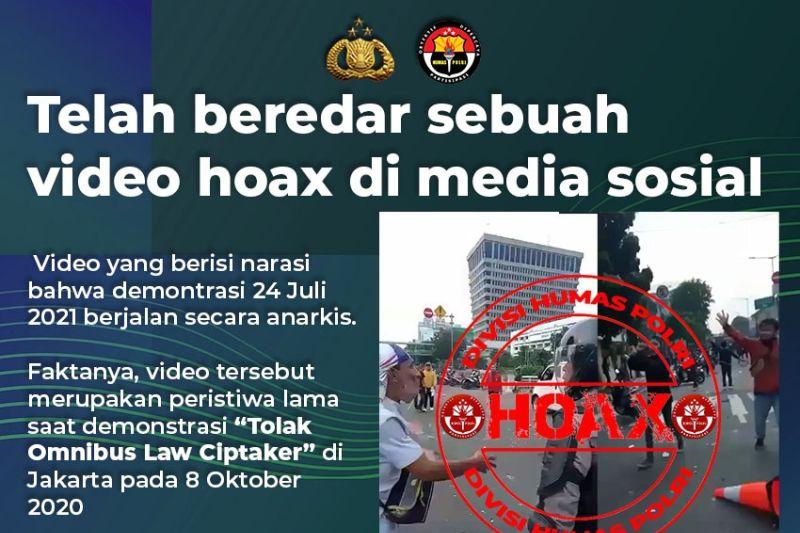 Polri pastikan video demo rusuh hari ini adalah hoaks