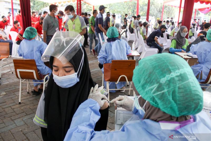 44,10 juta jiwa telah mendapatkan vaksin dosis pertama