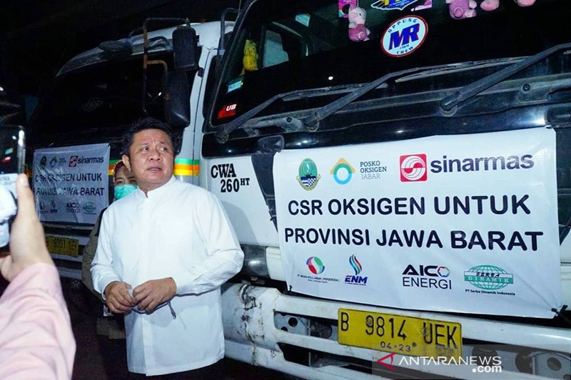 APP Sinar Mas distribusikan 85,8 ton oksigen dari Sumsel ke Jawa Barat