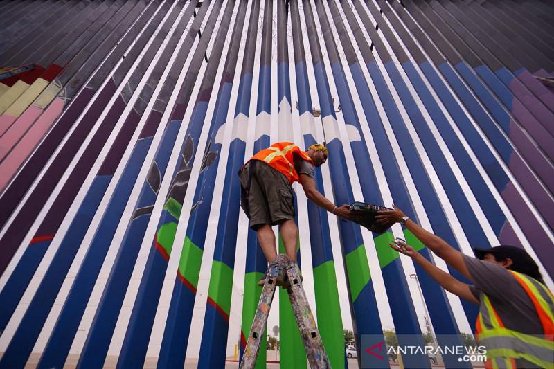 Mural warnai pagar perbatasan AS-Meksiko untuk kampanyekan persaudaraan