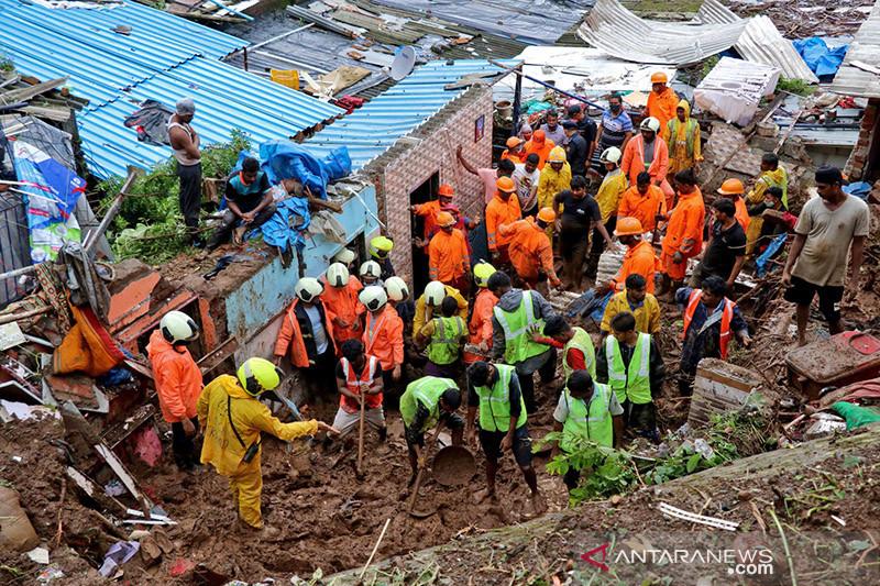 Hujan deras tewaskan lebih dari 160 orang di India
