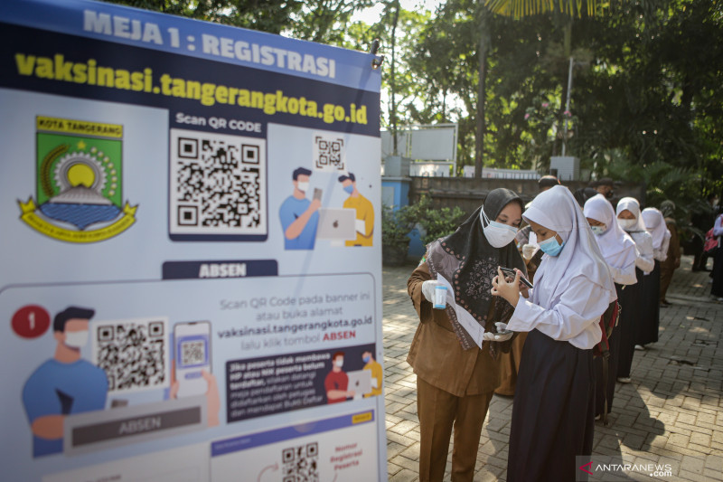 Penduduk RI telah divaksinasi dosis pertama bertambah 555.030 orang