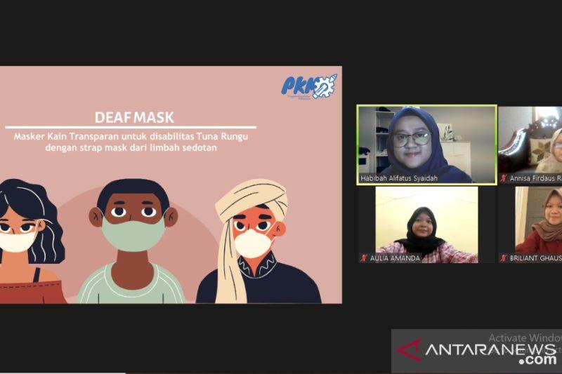 Mahasiswa UMM buat masker khusus tuna rungu dari limbah sedotan