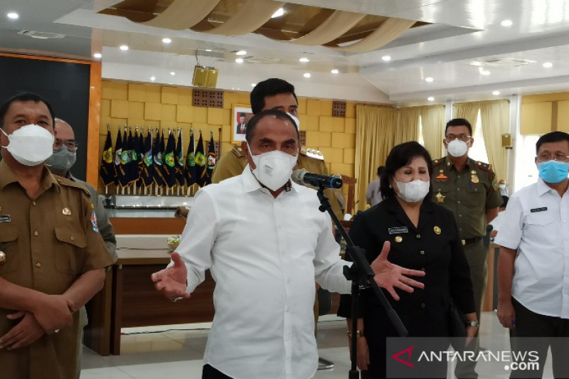 Gubernur sebut 22 kabupaten/kota di Sumut masuk PPKM Level 3