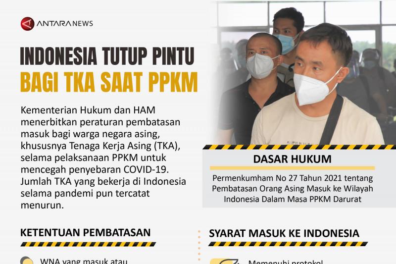 Indonesia tutup pintu bagi TKA saat PPKM