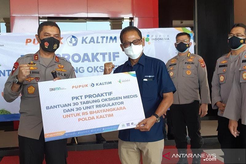 PKT salurkan 30 tabung oksigen medis ke RS Bhayangkara Balikpapan