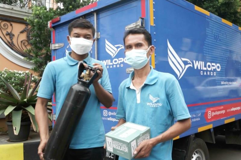 Wilopo Cargo berikan tabung oksigen gratis kepada pasien COVID-19