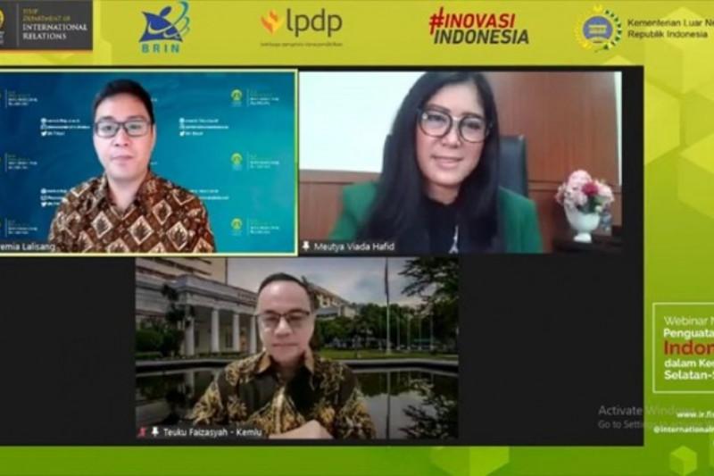 Indonesia mempunyai peran aktif dalam Kerja Sama Selatan-Selatan