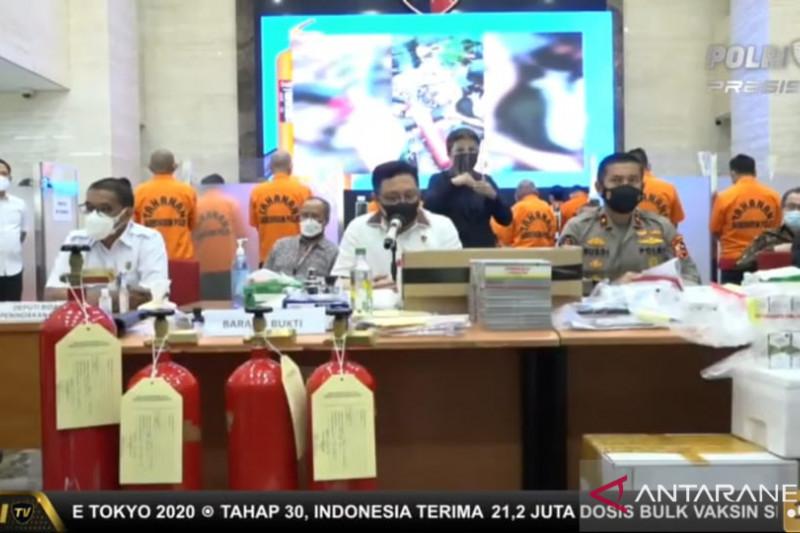 Polri tangkap enam pelaku penjual tabung APAR jadi tabung oksigen