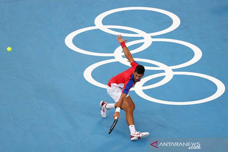 Djokovic lewati Nishikori melaju ke semifinal Olimpiade