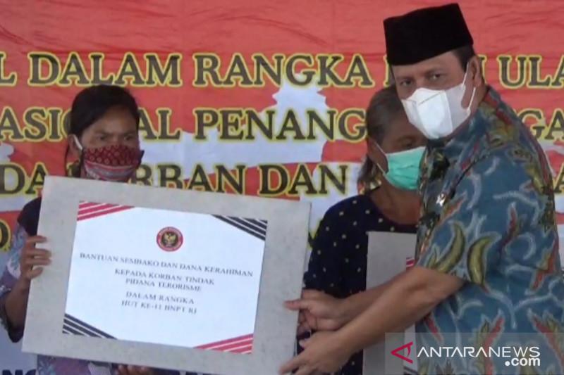 Korban terorime Poso dan Sigi dapat bantuan BNPT