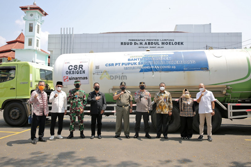 Dirut Pusri serahkan bantuan oksigen untuk RS di Lampung