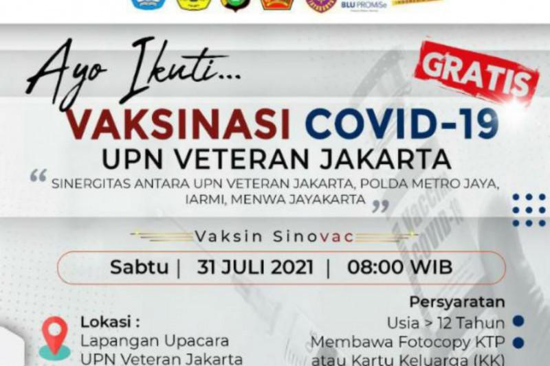 UPN Veteran Jakarta gandeng Polda Metro gelar vaksinasi untuk umum