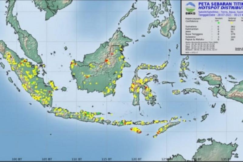35 titik panas terpantau BMKG di Sumatera Utara