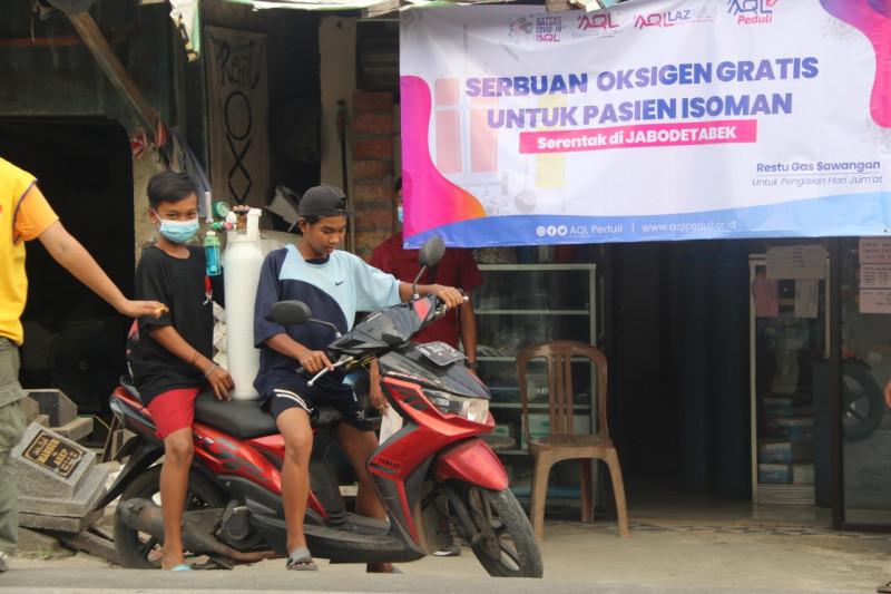 AQL bagikan oksigen medis gratis bagi pasien Isoman di Jabodetabek