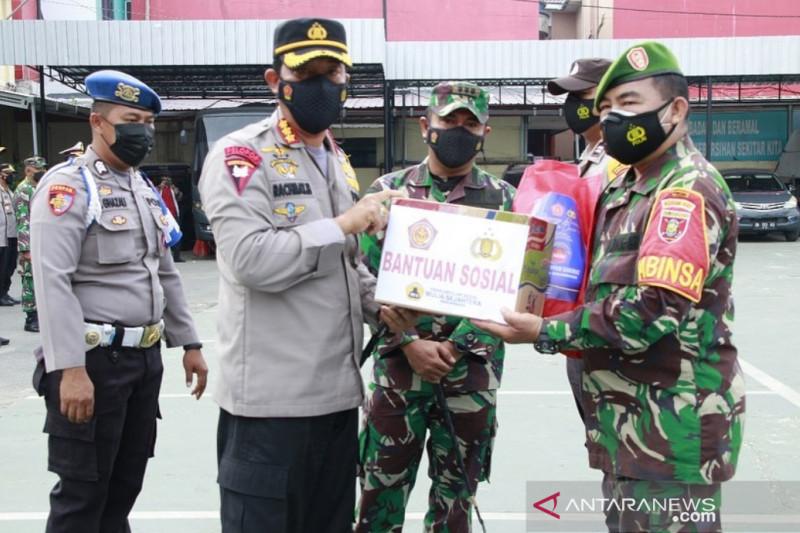 Polresta Banjarmasin tebar 1.600 paket sembako selama PPKM level IV