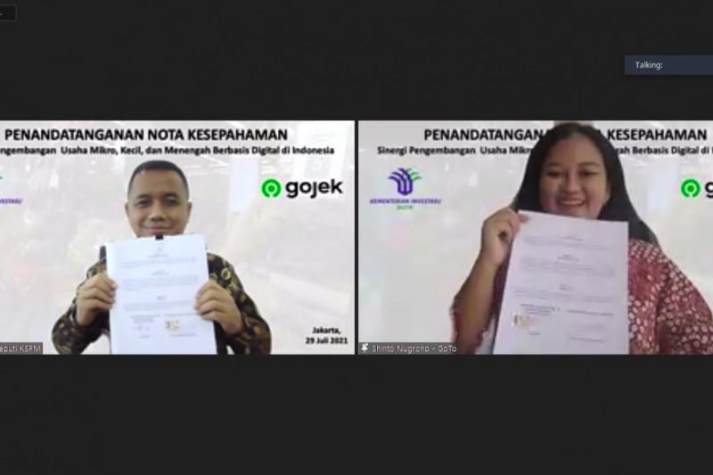 Kementerian Investasi gandeng Gojek kembangkan UMKM berbasis digital