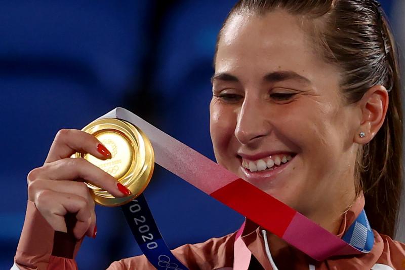 Emas tunggal putri Olimpiade Tokyo jadi milik Belinda Bencic