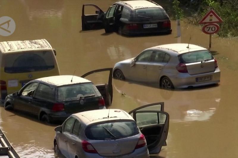 Korban tewas meningkat menjadi 157 dalam banjir Eropa