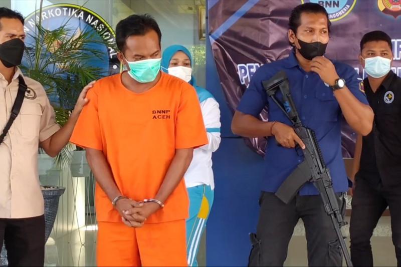 BNNP Aceh tangkap kurir sabu jaringan Malaysia