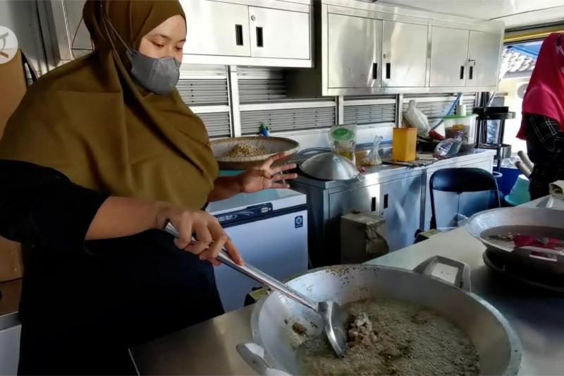 Dukung PPKM, Dinsos Pandeglang dirikan dapur umum