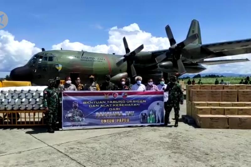 Panglima TNI kirim bantuan oksigen dan alkes untuk Papua