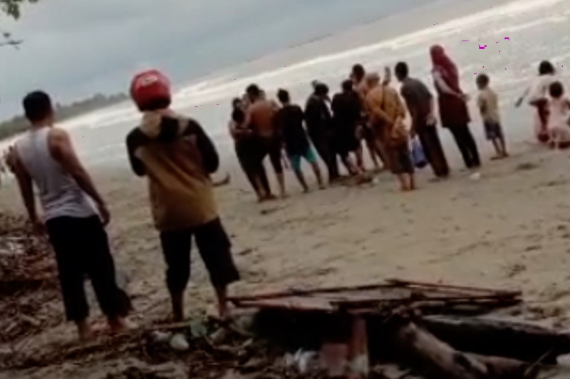 11 wisatawan terseret ombak di Pantai Wisata Batu Gong Konawe