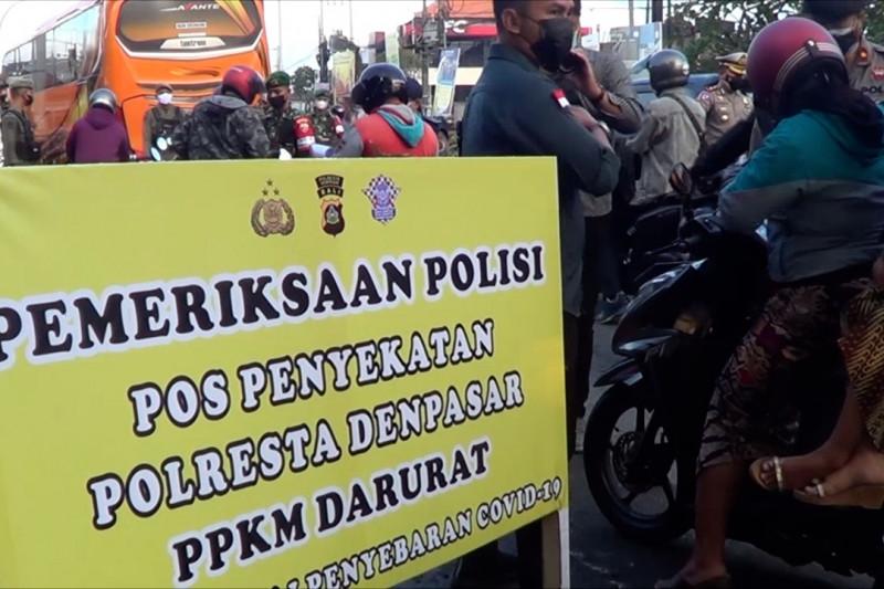 7 Posko penyekatan di Denpasar dijaga ketat