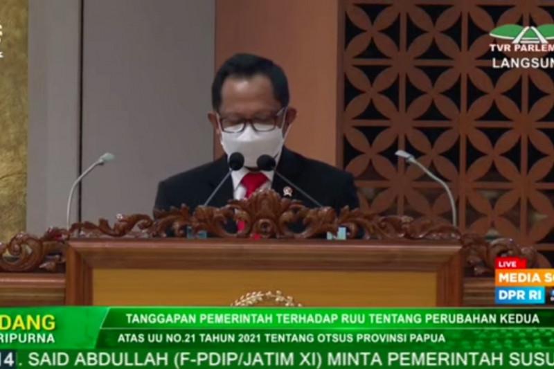Pemerintah dan DPR sepakati perubahan UU otsus Papua