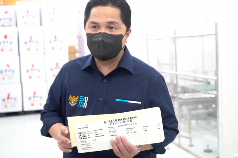 Erick Thohir pastikan 20 juta vaksin terdistribusi Juli & Agustus