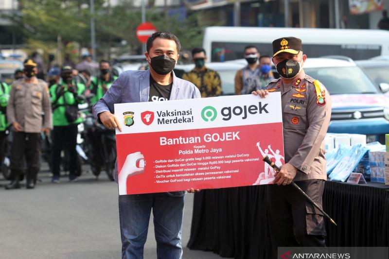 Polda Metro Jaya, Gojek siap sukseskan vaksinasi 3 juta warga Jakarta